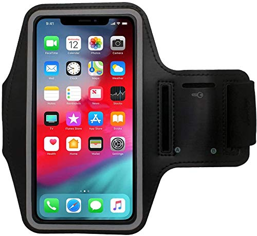 Cbus Wireless Brazalete Deportivo para Footing, Joging, Correr y Entrenar. Compatible con iPhone 12 Mini/12/12 Pro/11 Pro/Xs/X/8/7/6S/6/SE/5S/5C/5/iPod Touch (Negro)