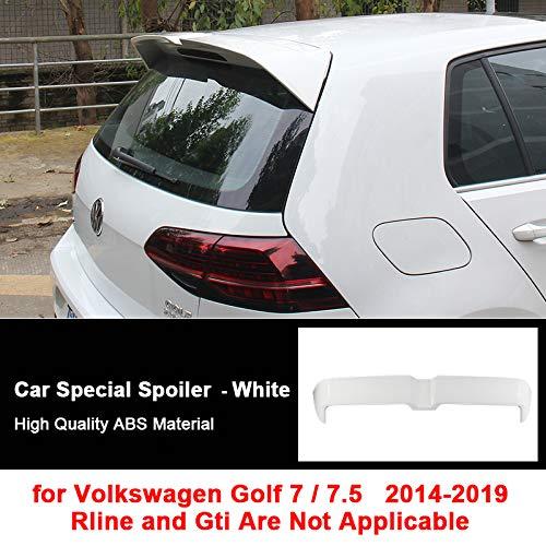 HosDevice Auto Heckspoiler für VW Golf 7/7.5 Modell 2014-2019, ABS-Material Auto Heckflügel, Verbessern die Stabilität von Autos, für Golf Modifikation Enthusiasten White
