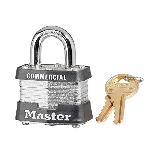 "6 Pack Master Lock 3KA-0356 1-9/16"" Wide Keyed Alike Commercial Grade Laminated Padlock with 3/4"" Shackle Height - Keyed to 0356 Key Code"