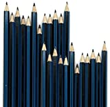 Emraw Pre Sharpened Drawing Sketching B Pencil Set (HB, 2B, 4B, 6B, 7B, 8B), Pack of 24 Premium Wood Cased Graphite Art Pencils for Beginners & Professional Artists, Adults & Kids