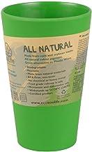 BIOZOYG EcoSouLife Cup I Bambus Becher I Geschirr aus Bambus I umweltfreundliches Geschirr nachhaltig - ideales Kinder und Campinggeschirr I Kaffeebecher kompostierbar I Eco Becher 400ml Grün