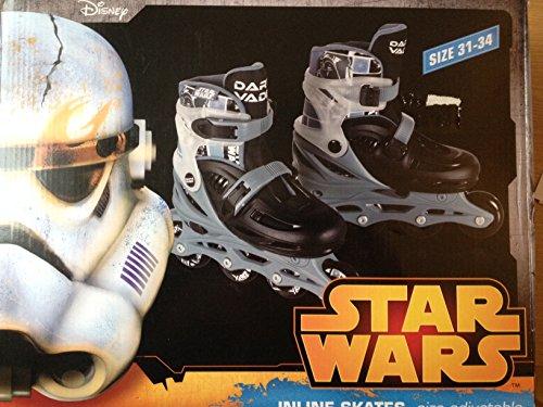 Disney Star Wars Kinder Inline Skates Darth Vader Größe 31-34 (Größe verstellbar)