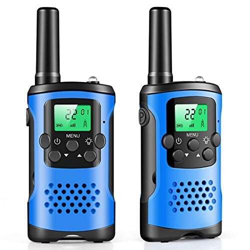 Walkie Talkies for Kids, 22 Channel Radio 3 Miles Long Range Handheld Walkie Talkies Durable Toy, for 3-12 Year Old Kids Outside, Camping, Hiking Adventure Game