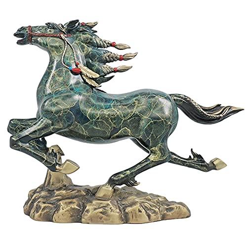 馬モデル像、戦争馬彫刻立っている馬モデル塗装銅工芸品アンティークレプリカアンティークファミリールームデスクトップオフィスコレクション装飾ハイエンドギフト