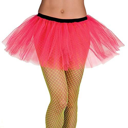 Boland 01705 - Tutu für Erwachsene, Einheitsgröße, mit Gummizug, pink, Länge ca. 30 cm, Tütü, Rock, Petticoat, Kostüm, Motto Party, Karneval