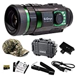 Wearable4U SiOnyx Aurora Full-Color Digital Night Vision Camera with Hard Case and Piccatinny Rail Mount and Hat Bundle