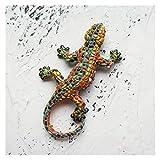 Imán de refrigerador 3D Español República Dominicana Turismo Turismo Lagarto Gecko Imanes De Frigorífico Iman De Frigorífico Para Decoración Del Hogar (Color : B)