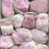 FENGNANMY Alfombrilla Perros Cuarzo Cristal Pink Vena Aragonita Mineral Reiki Decoración Decoración Espécimen Decorativo Cristal Piedras Minerales