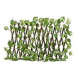 Paneles de valla con enrejado de expansión, valla de expansión con hojas de hiedra artificial y protección contra los rayos UV para uso interior