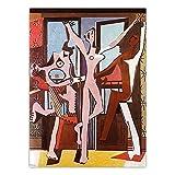 FAZHWEI Cuadro en Lienzo 60x90cm Sin marco Póster De Figura Español De Pablo Picasso, Diseño Para El Hogar, Baño, Casa, Lienzo, Pintura, Oficina