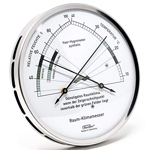 Fischer woonklimaat-hygrometer met thermometer, artikel 1222-01, Made in Germany