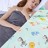 Weighted Blanket con Funda,4.5kg Manta de Peso para Peso Corporal 49-63kg para Adultos Ansiedad,152x203cm,Azul