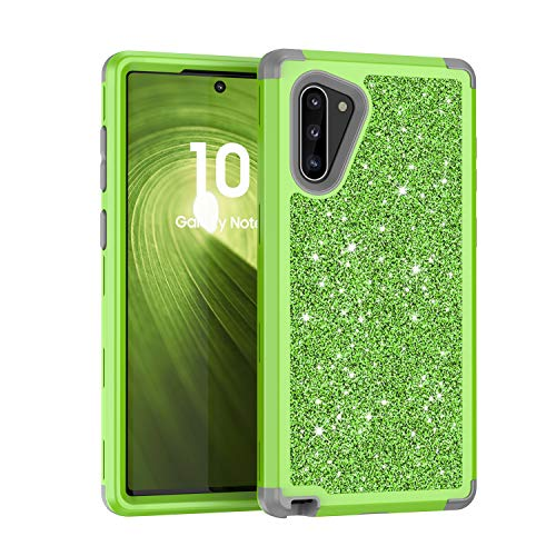 Galaxy Note 10 Case, UZER Three Layer Shockproof Luxury Glitter Sparkle Bling Diamond Hard PC Soft Silicone Combo Hybrid Impact Defender Full-Body Protective Case for Samsung Galaxy Note 10 5G (2019)