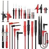KAIWEETS KET05 Cables de Multímetro, Juegos de 23 Piezas de Cables de Prueba con Sonda de Prueba, Pinzas de Cocodrilo, Ganchos, Aguja de Perforación, Pack de cable de prueba reemplazables