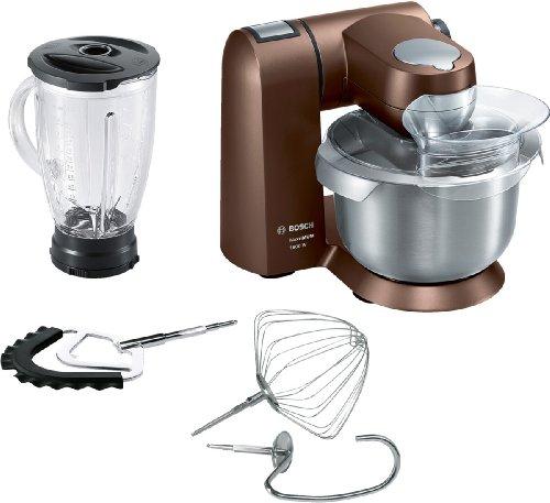 Bosch MUMXL20C Küchenmaschine MaxxiMum (1.600 Watt, 5,4l Edelstahlschüssel, Smart dough Sensor) dark chocolate
