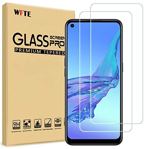WFTE [2-Pack] Protector de Pantalla para OPPO A53/A53S,9H Dureza,Huellas Dactilares Libre,Sin Burbujas,Cristal Templado Protector de Pantalla OPPO A53/A53S