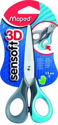 Maped Sensoft 3D 13 cm-Ciseaux avec manche souple Coloris assortis Lot de 12 069300