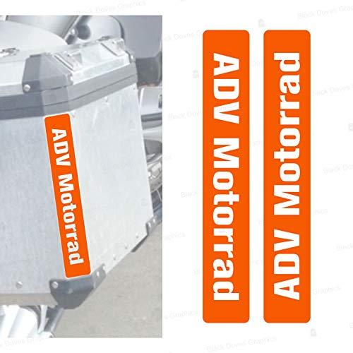 2 tiras reflectantes compatibles con Touratech Maletas laterales (naranja)