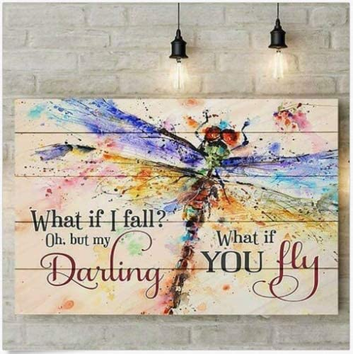 Oh My Darling What If You Fly Framed Quote