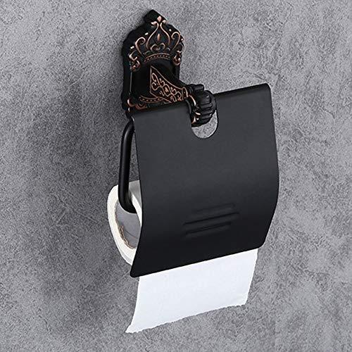 LCSD titular de papel higiénico de baño de papel toallero titular europeo retro papel toalla titular de todo aluminio antiguo papel higiénico titular de papel higiénico titular de papel