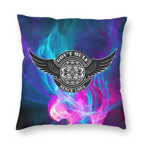 TIERA BENDER Gov't Mule Cushion Cover Throw Pillow Cover Durable Pillow Case Square Home Decoration Gift 18'' X18