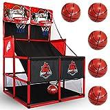 BESTKID BALL Indoor Basketball Game - Double Shot Basketball Arcade – Indoor Basketball Hoop for Kids – Premium...