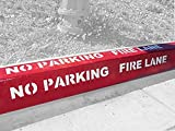 Curb-N-Sign No Parking Fire Lane Individual Curb Painting Stencil, 4 inch Numbers/Letters, Flexible Plastic Design for Easy Application to Any Surface, Reusable & Meets Fire Code Standards