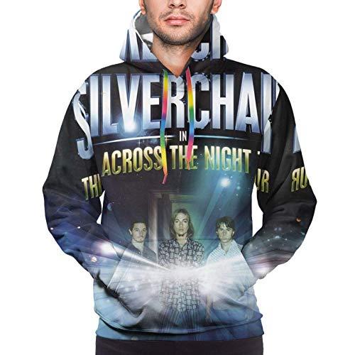 XCNGG Sudadera con Capucha para Hombre Suter para Hombre Mens Silverchair Hoodies Funny Classic Novelty Sweatshirt Casual Pullover with Pocket