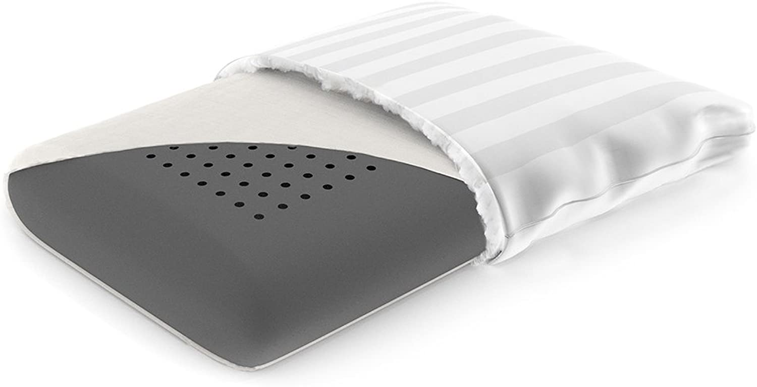 Cariloha Bamboo Retreat Pillow by 100% Bamboo Charcoal Memory Foam with Airflow Perforation (Standard)