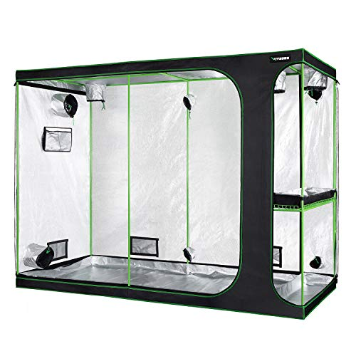 VIVOSUN 2-in-1 108'x48'x80' Mylar Reflective Grow Tent for Indoor Hydroponic Growing System