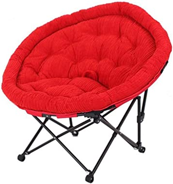 Carl Artbay Footstool Red Seat Cover Folding Chair Individual Moon Chair Lounge Chair Lunch Break Sleeping Couch Home