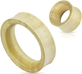 Pair of Crocodile Wood Tunnels Hand Carved Ear Gauges 6g 4g 2g 0g 00g 1/2 9/16 5/8 3/4 7/8 25mm 30mm 32.5mm (32.5)