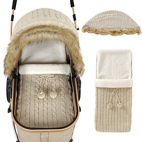 iFCOW Newborn Baby Wrap Swaddle Blanket, Baby Stroller Cover Sleep Sack Set...