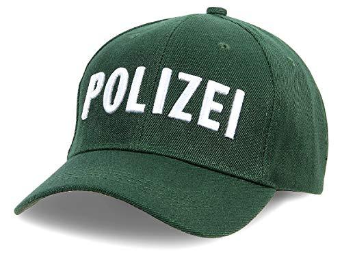 Alsino Polizei Cap Kappe Käppi Basecap Baseballcap - Farbe: Grün - verstellbar - Baumwolle Baseball
