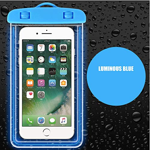 Cell phone Waterproof bag Rainproof dust proof waterproof phone case seal Diving suit Touchable Apply to divingSwimRainy dayBlue