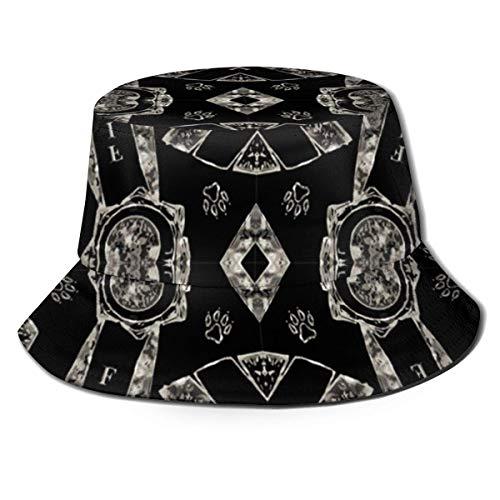 AOOEDM Rosetones de Plata de imitación para Hombre, Mujer, Sombrero para el Sol, Sombrero de Pescador, protección UV, Senderismo al Aire Libre, Pesca, Gorra de Moda Lavada