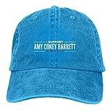 Jopath Amy Coney Barrett Cappello, unisex regolabile berretto da baseball in cotone lavabile Snapback Cap Blu Taglia unica