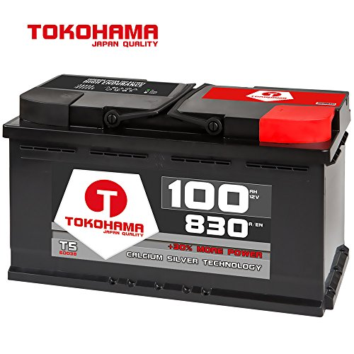 Tokohama 12V 100AH 830A/EN Autobatterie ersetzt 88Ah 90Ah 92Ah 95Ah T5-60038