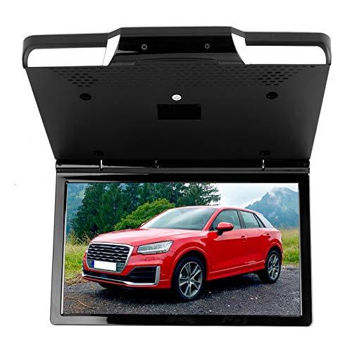 YJZO Pantalla LCD de Coche Monitor de Montaje en Techo de Techo de Coche Reproductor de DVD 1080P Pantalla Digital de vídeo HD
