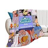 Flannel Frosty The Snowman Blanket Camping Blanket for Living Room Bedroom Dorm Decor Keep Warm Blanket