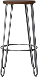 ACEssentials Quinn Counter Stool in Natural Metal Finish