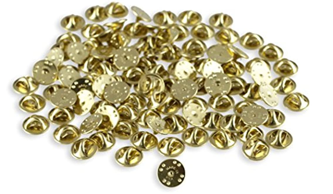 Pin Backs For Lapels- Premium Butterfly Clutch- PVC Clutch-- Pin Keepers-- USA Made (Gold Butterfly 25 Pieces)