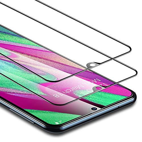 ESR Protector de Pantalla para Samsung Galaxy A40 [2 Unidades] 2.5D Cristal Templado Screen Protector [Cobertura Pantalla Completa] Compatible con Samsung A40 (2019)