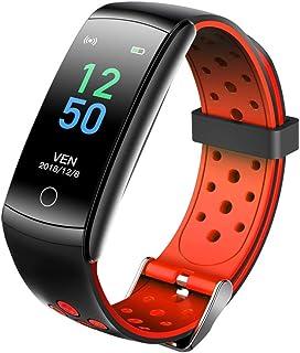 Gymqian Pulsera Inteligente para Hombres Mujeres con Monitor de Ritmo Cardíaco Banda Impermeable Fitness Tracker Ip68 Reloj Inteligente Impermeable para Ios Teléfono Android Moda /