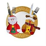 KTZAJO 2020 último servicio de cena de Navidad Set pequeño sombrero mesa decorado servicio cena bolsa de servicio de cena juego de tapa de lámpara de color (color : juego de cubiertos de alce)