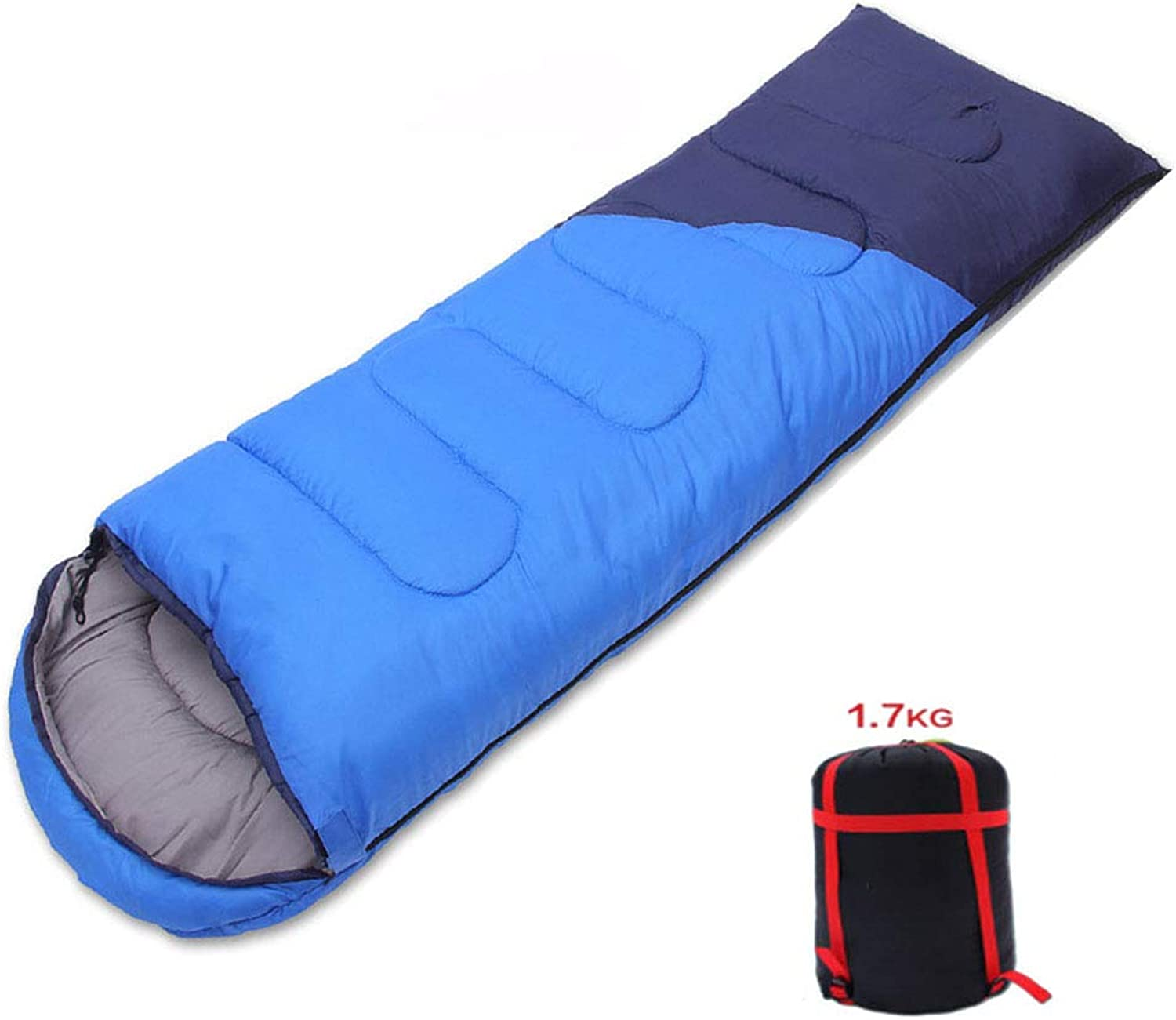 Camping Adult Cotton sleeping bag, Four Seasons, can be Spliced, blueee, Cotton 1.7Kg m2