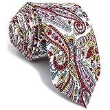 S&W SHLAX&WING Cotton Cravatta da uomo Magra Printed Floral