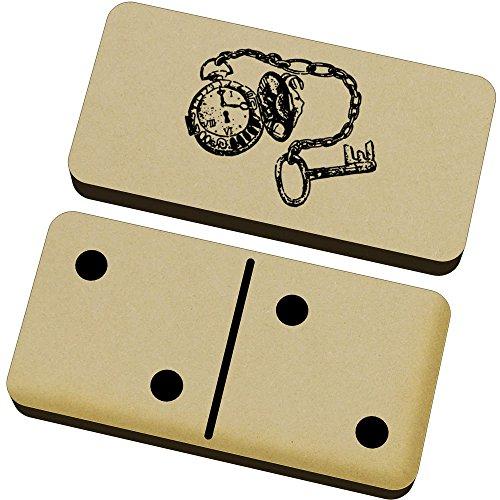 Azeeda 'Uhr und Schlüssel' Domino-Spiel und Box (DM00006560)