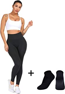 Leggings for Women  High Waisted Leggings Seamless  Tummy Control   Body Shapewear   Pants Leggings for Running   Cycling  Yoga   Workout   Push-up Anti-Cellulite Control (RBM)