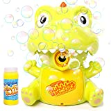 KULARIWORLD Bubble Machine for Kids Toddlers Handheld Dinosaur Bubbles Blower Maker for Outdoor Party Toys for Kids Boys Girls (Solution Included)